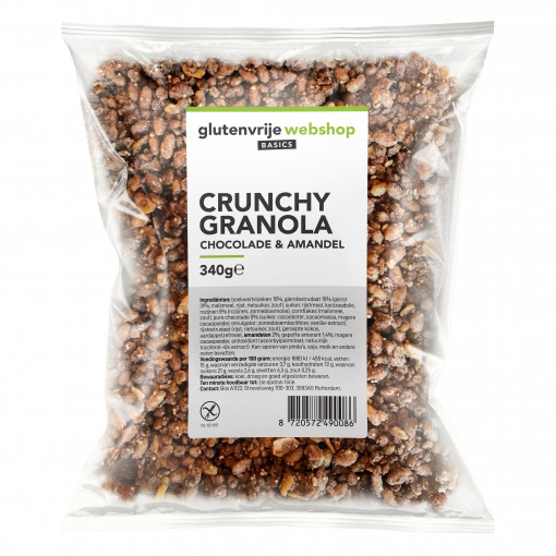 Glutenvrije Webshop Basics Crunchy Granola Chocolade & Amandel