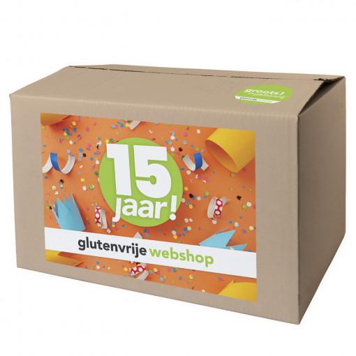 Glutenvrije Webshop Jubileumbox 15 Jaar