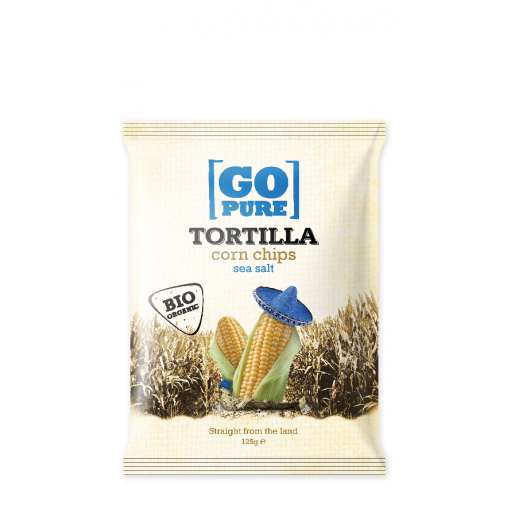 GoPure Tortilla Corn Chips Sea Salt