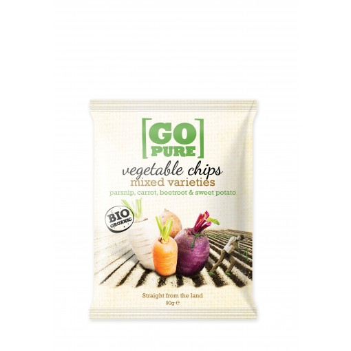 GoPure Vegetable Chips Mixed Varieties Parsnip, Carrot, Beetroot & Sweet Potato