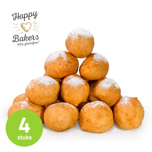Happy Bakers Oliebollen Naturel Lactosevrij (4 stuks)