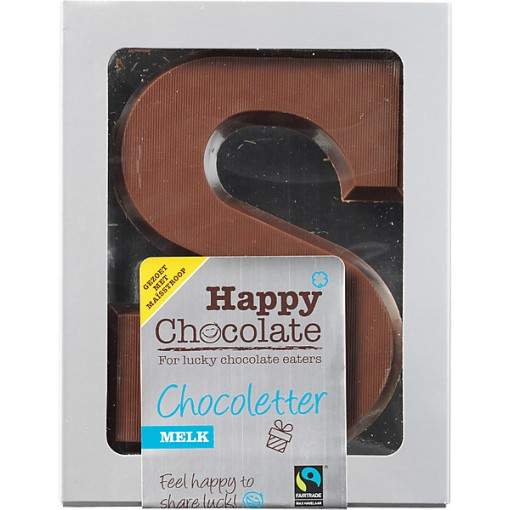 Happy Chocolate Chocoletter Melk Maisstroop Gezoet