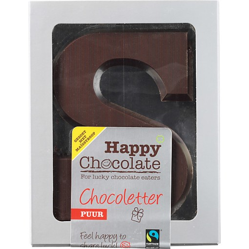 Happy Chocolate Chocoletter Puur Alternatief Gezoet