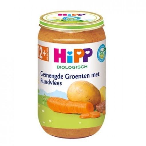 HiPP Gemengde Groenten Rundvlees 12+ Maanden