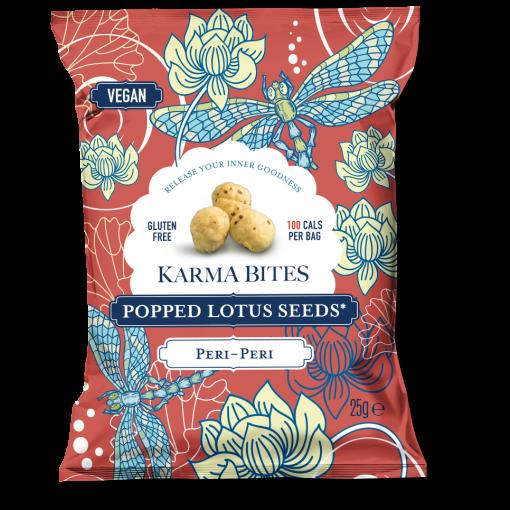 Karma Bites Popped Lotus Seeds Peri Peri