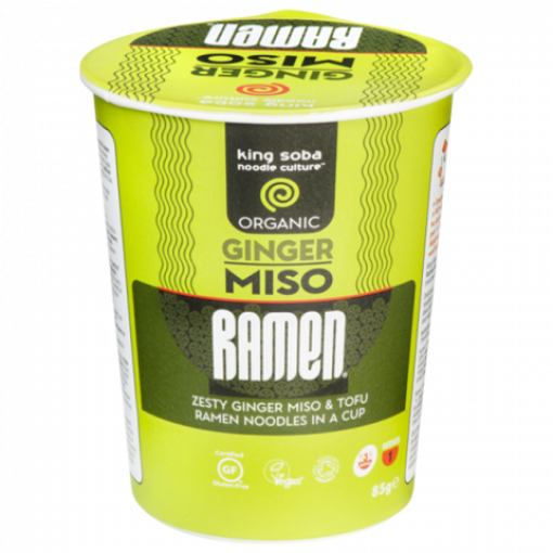 King Soba Miso Ramen Ginger (cup)