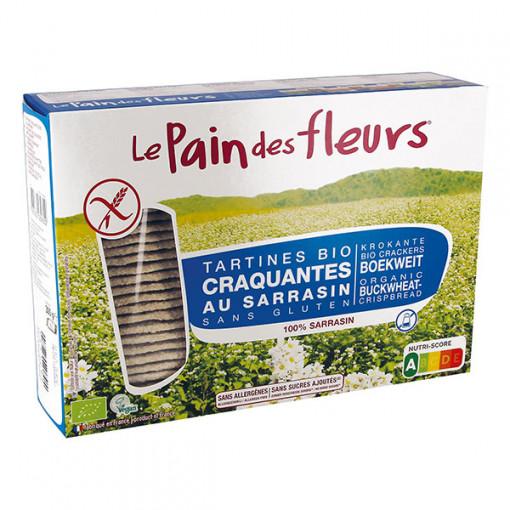 Le Pain des Fleurs Boekweit Crackers Zonder Zout Groot