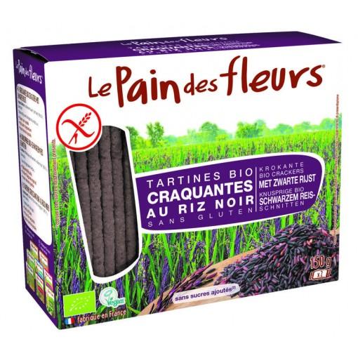 Le Pain des Fleurs Zwarte Rijst Crackers