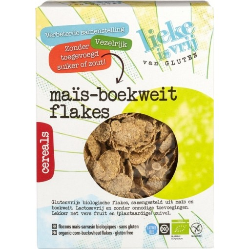 Lieke is vrij Mais-Boekweit Flakes