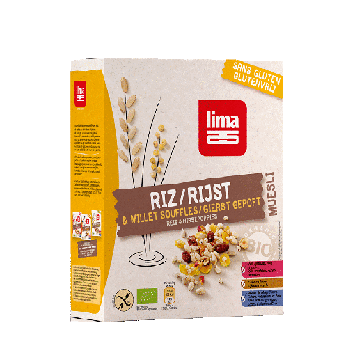 Lima Muesli Gepofte Rijst & Gierst