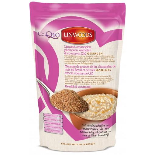 Gemalen Lijnzaad, Amandelen, Paranoten, Walnoten & Co-enzym Q10 360 gram (roze)