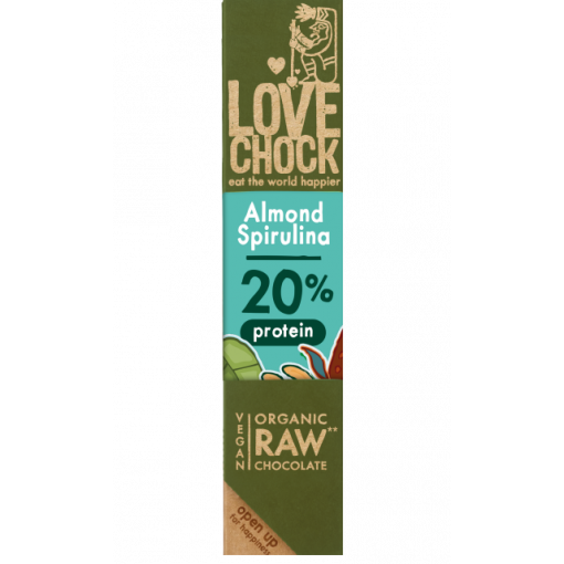 Lovechock Chocoladereep Almond Spirulina