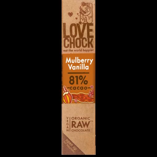 Lovechock Chocoladereep Mulberry/Vanilla
