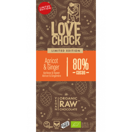 Lovechock Chocoladetablet Apricot & Ginger