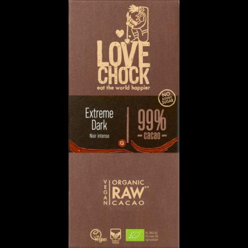 Lovechock Chocoladetablet Extreme Dark 99% Cacao
