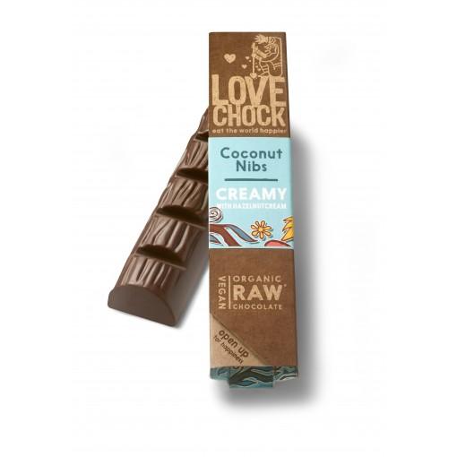 Lovechock Chocoladereep Creamy Coconut/Nibs