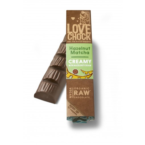 Lovechock Chocoladereep Creamy Hazelnut/Matcha