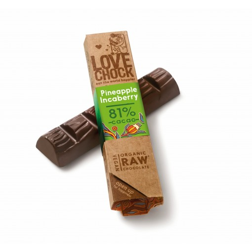 Lovechock Chocoladereep Pineapple/Inca