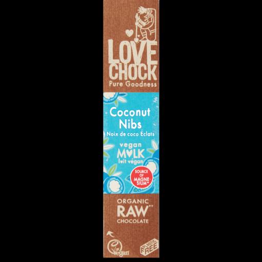 Lovechock Vegan Milk Chocoladereep Coconut Nibs