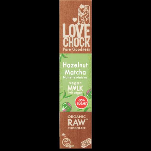 Lovechock Vegan Milk Chocoladereep Hazelnut Matcha