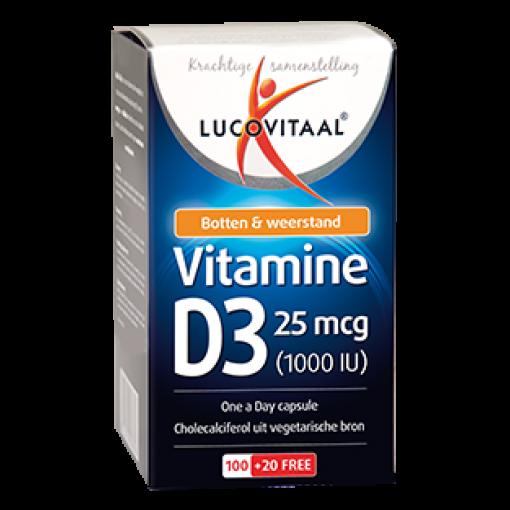 Lucovitaal Vitamine D3 120 Capsules