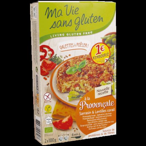 Ma Vie Sans Gluten Provençaalse Burger Boekweit & Rode Linzen