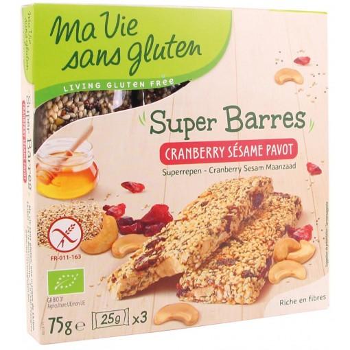 Ma Vie Sans Gluten Superrepen Cranberry Sesam Maanzaad