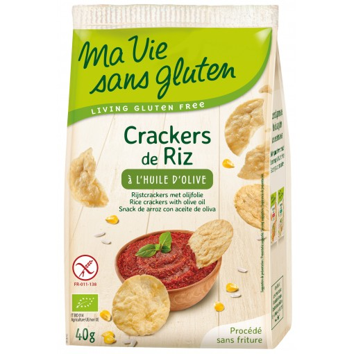Ma Vie Sans Gluten Rijstcrackers Met Olijfolie