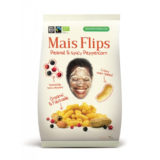 Joannusmolen Mais Flips Peanut & Spicy Peppercorn