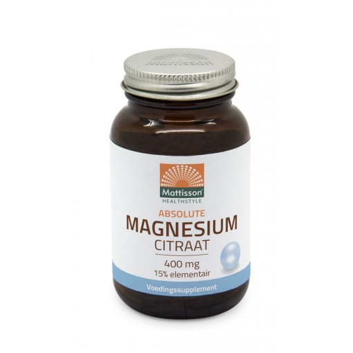 Mattisson Active Magnesium Citraat 400 mg 180 Vcaps