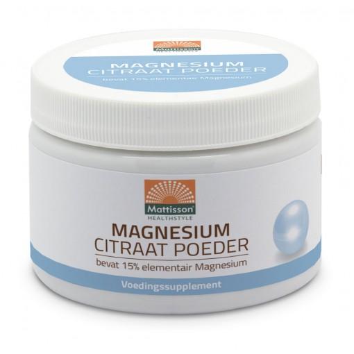 Mattisson Magnesium Citraat Poeder 16% Elementair