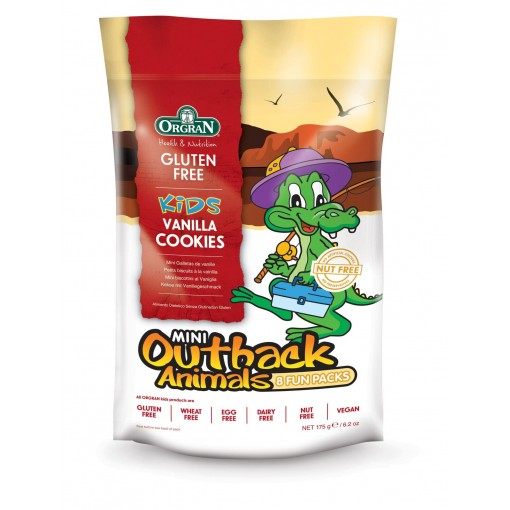 Orgran Outback Animals Vanille Cookies 8-pack (T.H.T. 07-11-2019)