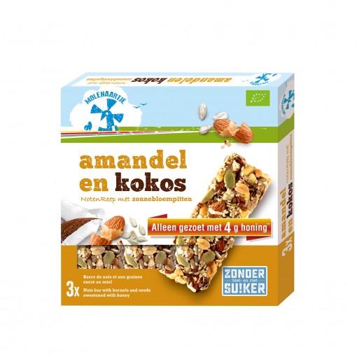 Molenaartje Notenreep Amandel & Kokos Met Zonnebloempitten (T.H.T. 18-01-2020)