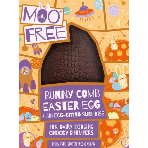 Moo Free Vegan Chocolade Paasei Bunny Comb Honingraat