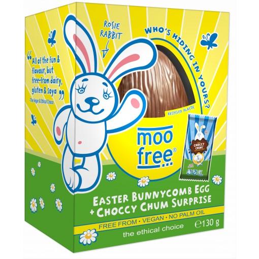 Moo Free Rijstmelk Chocolade Paasei Bunny Comb Honingraat