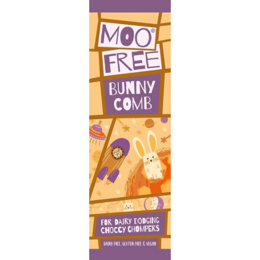 Moo Free Mini Bar Chocolade Bunny Comb Honingraat Lactosevrij