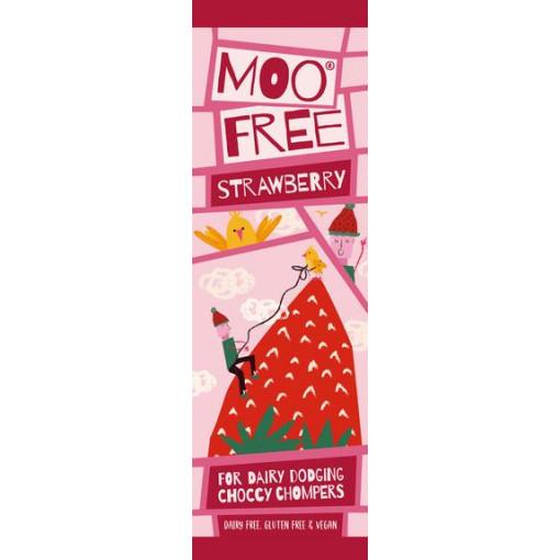 Moo Free Mini Bar Chocolade Strawberry Lactosevrij