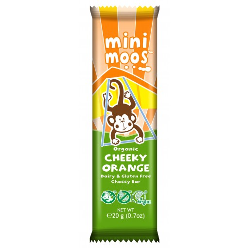 Moo Free Mini Moos Chocolade Cheeky Orange Lactosevrij