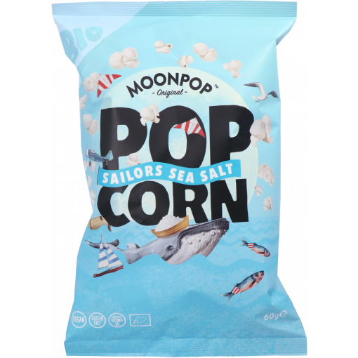 Moonpop Popcorn Sailors Sea Salt 60 gram