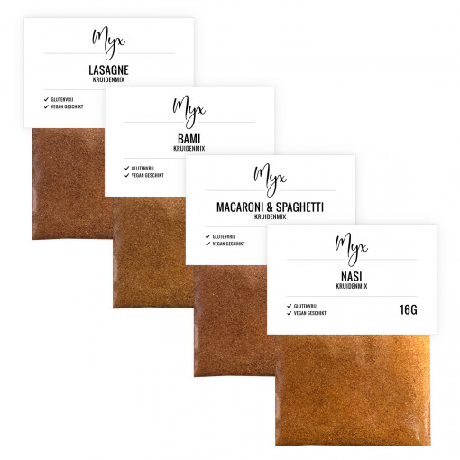 Myx Maaltijd Kruidenmix Proefpakket (4 soorten)