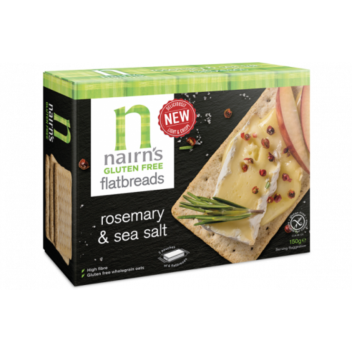Nairn's Flatbreads Rosemary & Sea Salt (T.H.T. 04-11-2019)