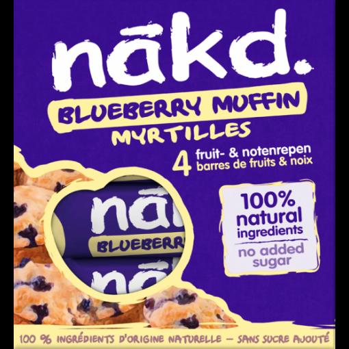 Nakd 4-pack Blueberry Muffin Bar