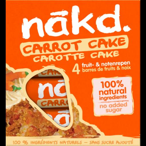 Nakd 4-pack Carrot Cake Bar