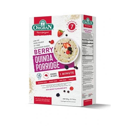 Orgran Quinoa Porridge Berry (T.H.T. 21-01-2020)