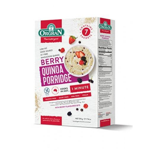 Orgran Quinoa Porridge Berry (T.H.T. 20-12-20)