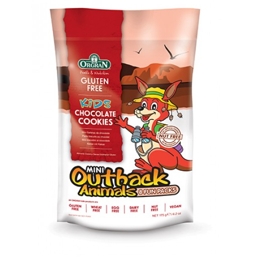 Orgran Outback Animals Chocolade Cookies 8-pack