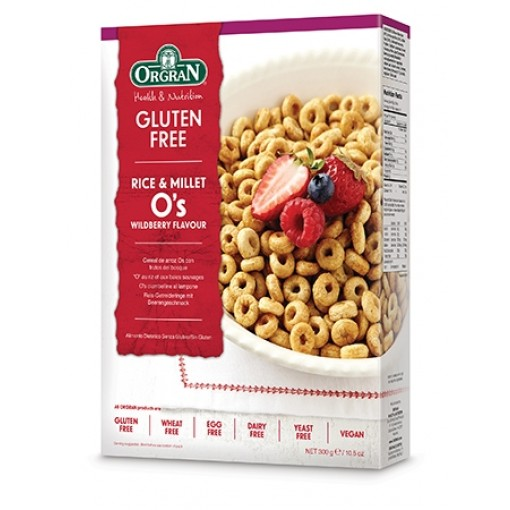 Orgran Rice & Millet O's Wildberry Flavour (T.H.T. 31-08-2020)