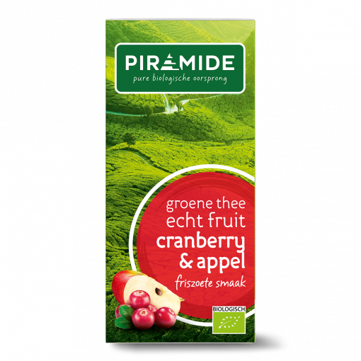 Piramide Groene Thee Cranberry & Appel