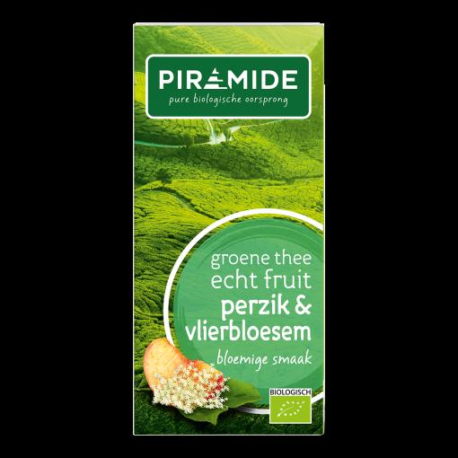 Piramide Groene Thee Perzik & Vlierbloesem