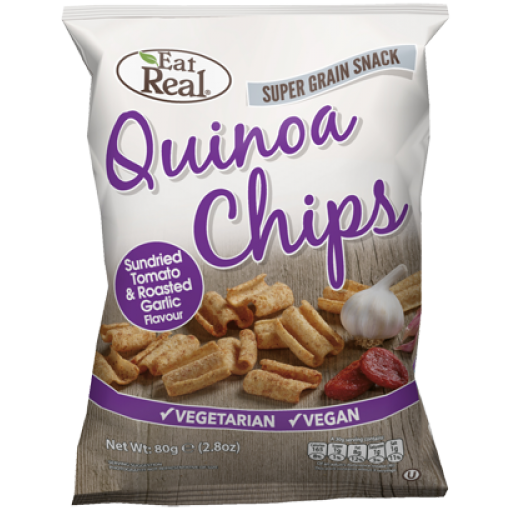 Eat Real Quinoa Chips Tomaat & Knoflook